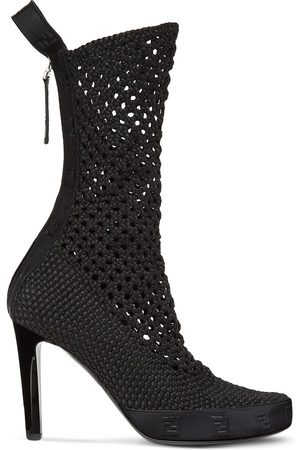 Fendi Knitted high-heel boots