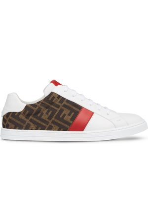 Fendi FF-logo print lace-up sneakers