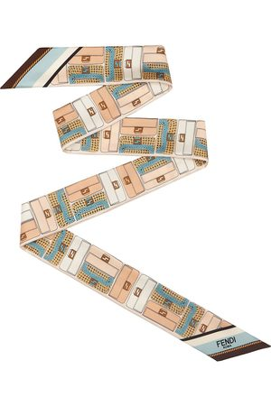 Fendi Women Scarves - Printed skinny scarf