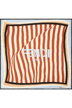 Fendi Striped square scarf