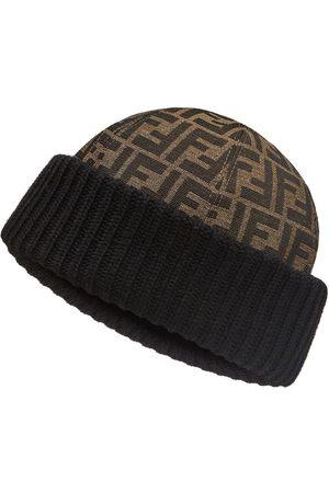 Fendi FF-logo wool beanie