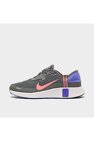 Nike Girls' Big Kids' Reposto Training Shoes in Grey/Pink Size 5.0