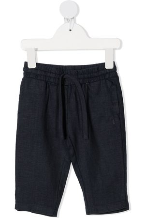 TRUSSARDI JUNIOR Drawstring straight-leg trousers