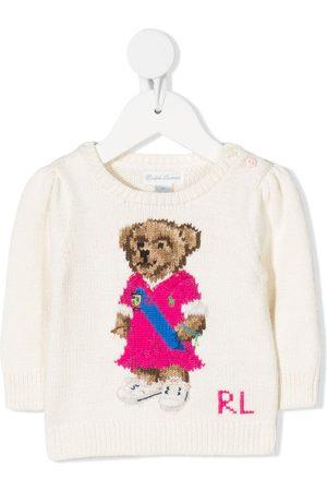 Ralph Lauren Kids Logo bear print jumper