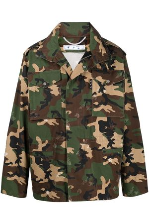 Off-White Camouflage-print zip-up bomber jacket