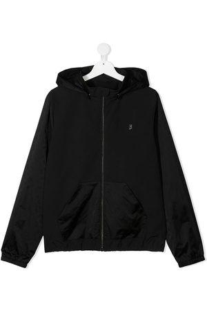 Herno Kids TEEN logo print bomber jacket