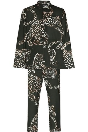 Desmond & Dempsey Animal print cotton pajama set