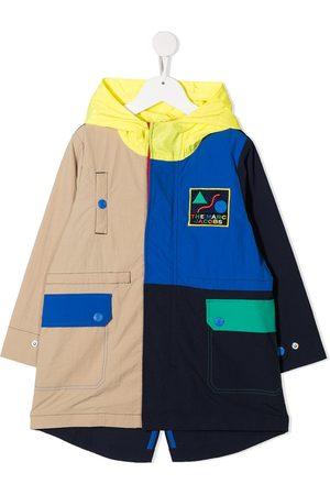 The Marc Jacobs Kids Colour-block hooded raincoat