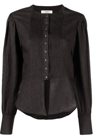 Isabel Marant Étoile Pleated-bib linen shirt