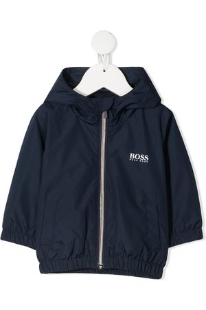 BOSS Kidswear Hooded zip-up logo jacket