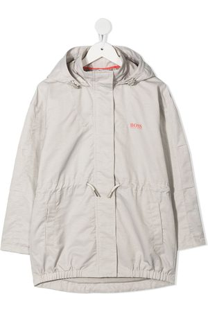 BOSS Kidswear Hooded rain coat - Grey