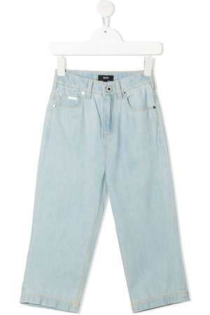 BOSS Kidswear Bleached straight leg jeans