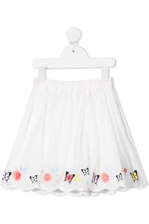 Charabia Embroidered butterfly hem skirt