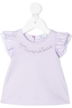 Monnalisa Crystal-embellished top