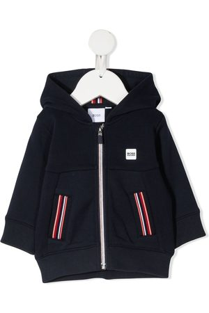 BOSS Kidswear Hooded zip-up jacket