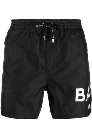 Balmain Logo-print drawstring swim shorts
