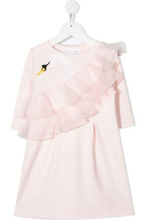 Charabia Ruffled swan dress