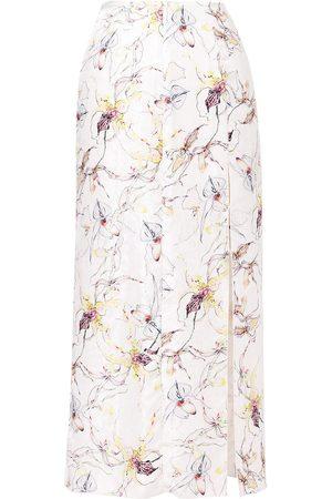 Jason Wu Collection Wild orchid silk satin jacquard skirt