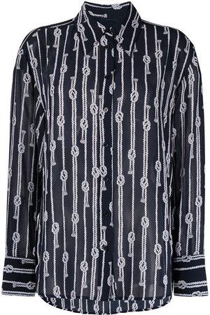 Michael Kors Knot-motif long-sleeved shirt