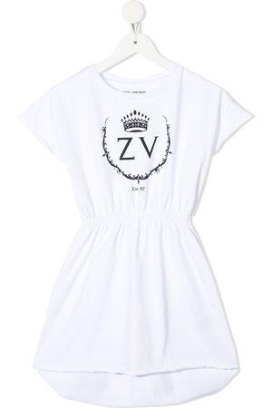 Zadig & Voltaire Kids Logo-print elasticated dress