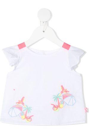 Billieblush Embroidered motif cotton blouse