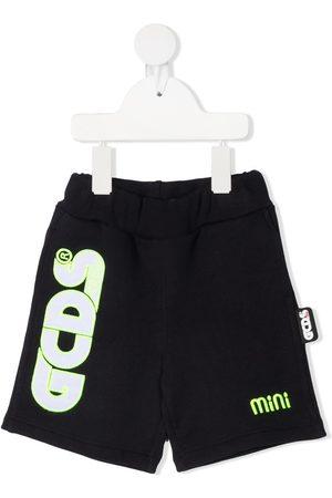 Gcds Kids Logo print cotton shorts