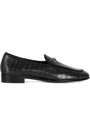 Giuseppe Zanotti Crocodile effect leather loafers