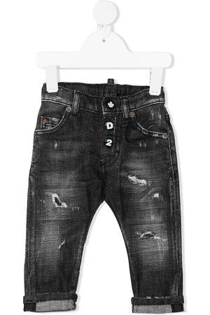 Dsquared2 Kids Distressed straight-leg jeans