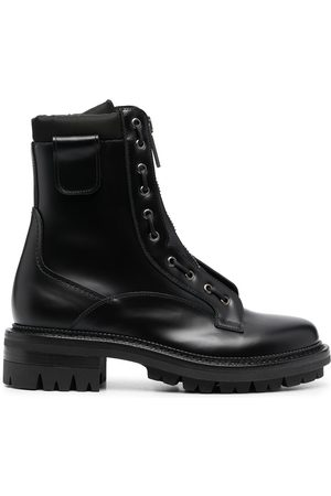 Dsquared2 Leather zip-up boots