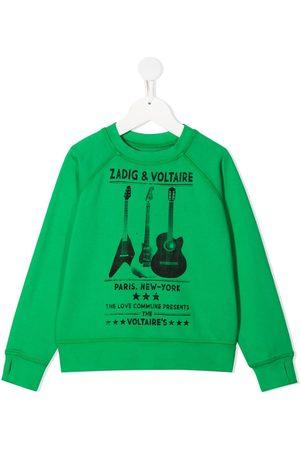 Zadig & Voltaire Kids Logo-print round neck sweatshirt