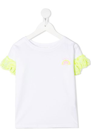 Billieblush Lace-trimmed short-sleeved T-shirt