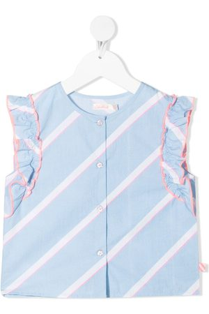 Billieblush Diagonal-stripe ruffle blouse