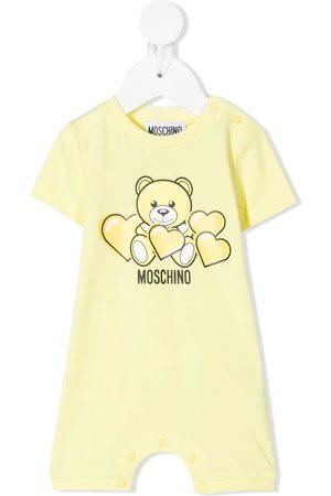 Moschino Kids Logo-print romper