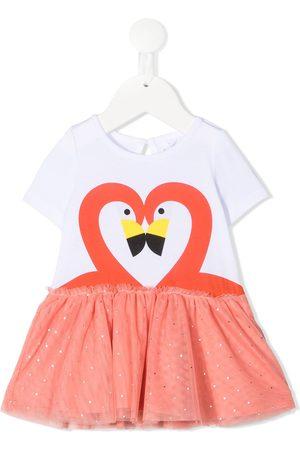 Stella McCartney Kids Flamingo-print tulle dress