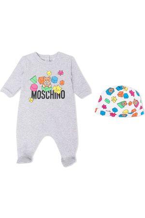 Moschino Kids Logo-print pyjama set - Grey