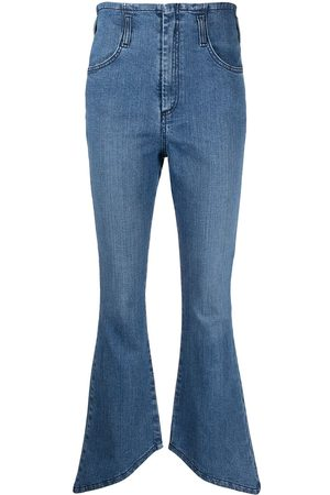 Federica Tosi Asymmetric-hem denim jeans