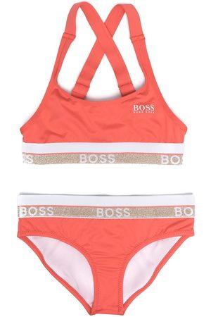 BOSS Kidswear Logo-print two-piece swimsuit