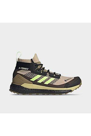 Adidas Men Outdoor Shoes - Men's Terrex Free Hiker GORE-TEX Hiking Shoes in /Savannah Size 7.0 Knit