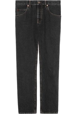 Gucci Eco stone washed tapered jeans