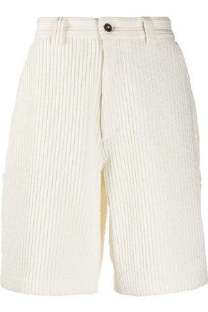 AMI Paris Men Shorts - Multi-pocket corduroy shorts