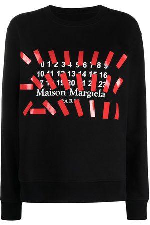 Maison Margiela Logo print crew neck sweatshirt