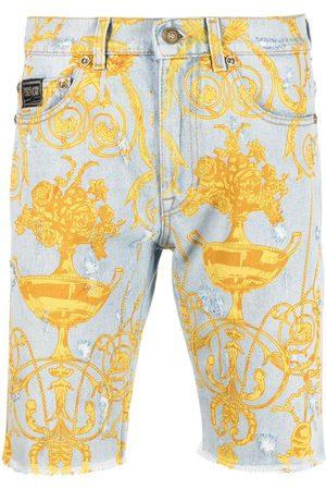Versace Jeans Couture Baroque-print denim shorts