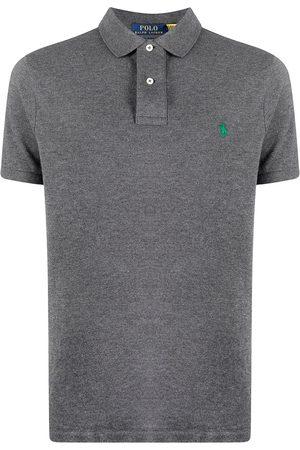 Polo Ralph Lauren Logo-patch short-sleeved polo shirt - Grey