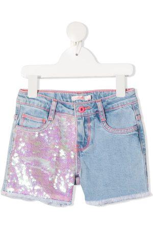 Billieblush Girls Shorts - Sequin embellished denim shorts
