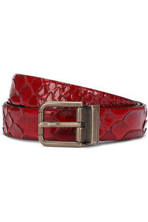 Dolce & Gabbana Python skin buckle belt