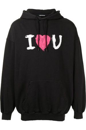 Balenciaga Slogan-print drawstring hoodie