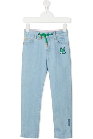 The Marc Jacobs Kids Mid-rise embroidered straight-leg trousers