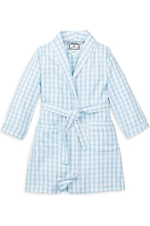 Petite Plume Unisex Gingham Robe - Little Kid, Big Kid
