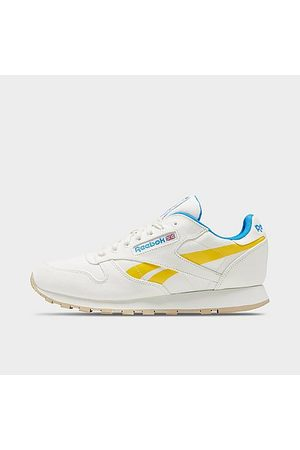 Reebok Men's Classic Leather Glow Casual Shoes in /Chalk Size 8.0