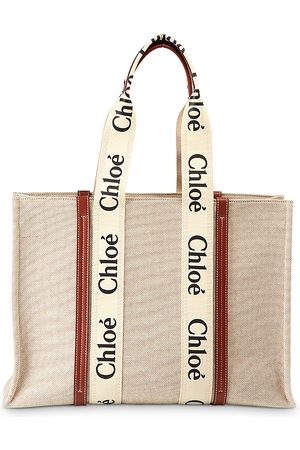 Chloé Woody Large Canvas Tote Bag